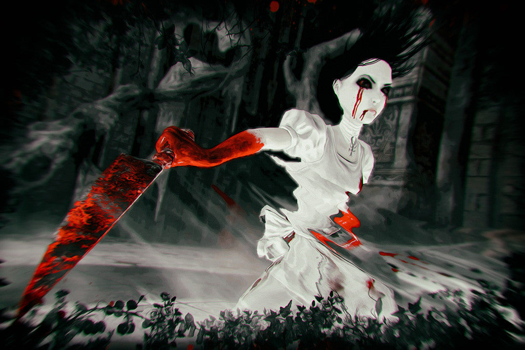 Alice Madness Returns Blood Knife Poster