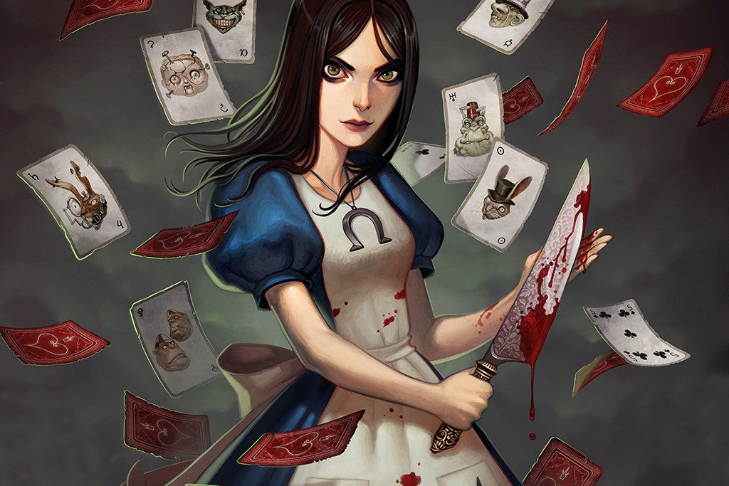 Alice Madness Returns Knife Blood Poster