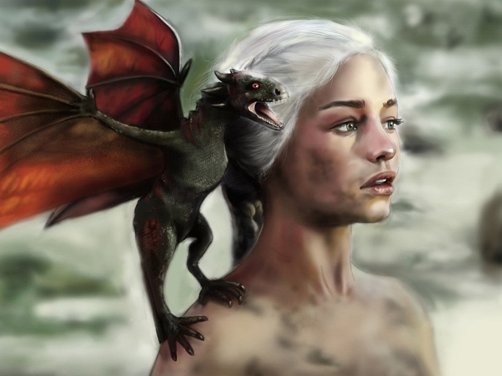 Daenerys Targaryen Dragon Game Of Thrones Poster