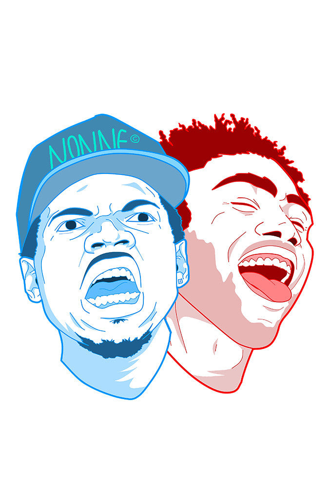Chance the Rapper and Childish Gambino Poster