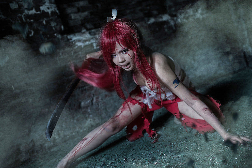 Erza Scarlet Fairy Tail Cosplay Hot Girl Poster