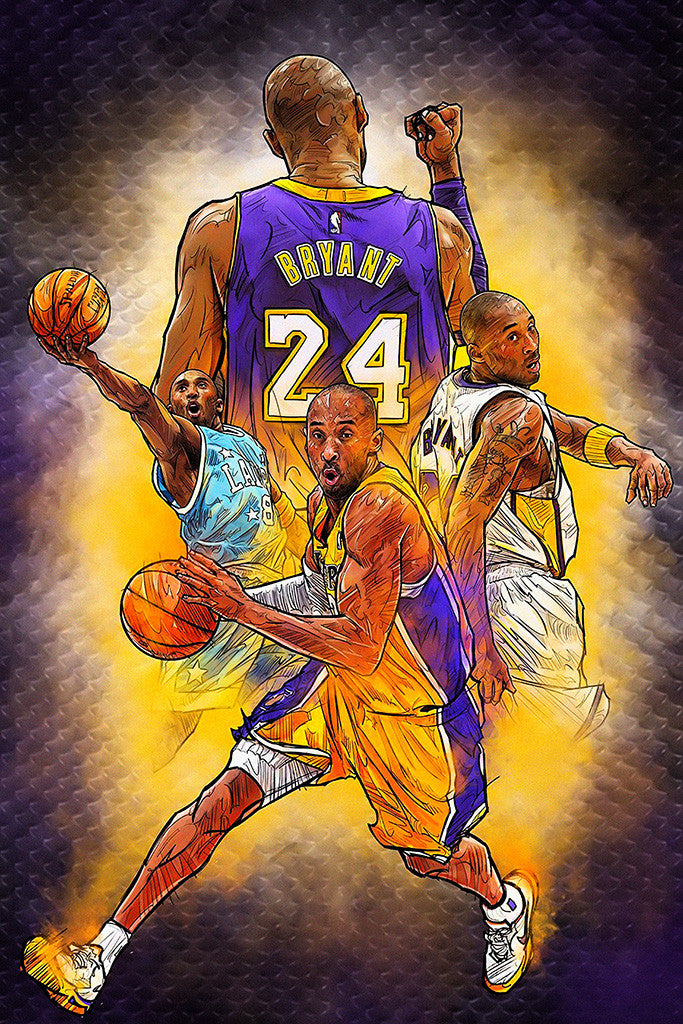 Kobe Bryant Retirement Game Basketball NBA Poster