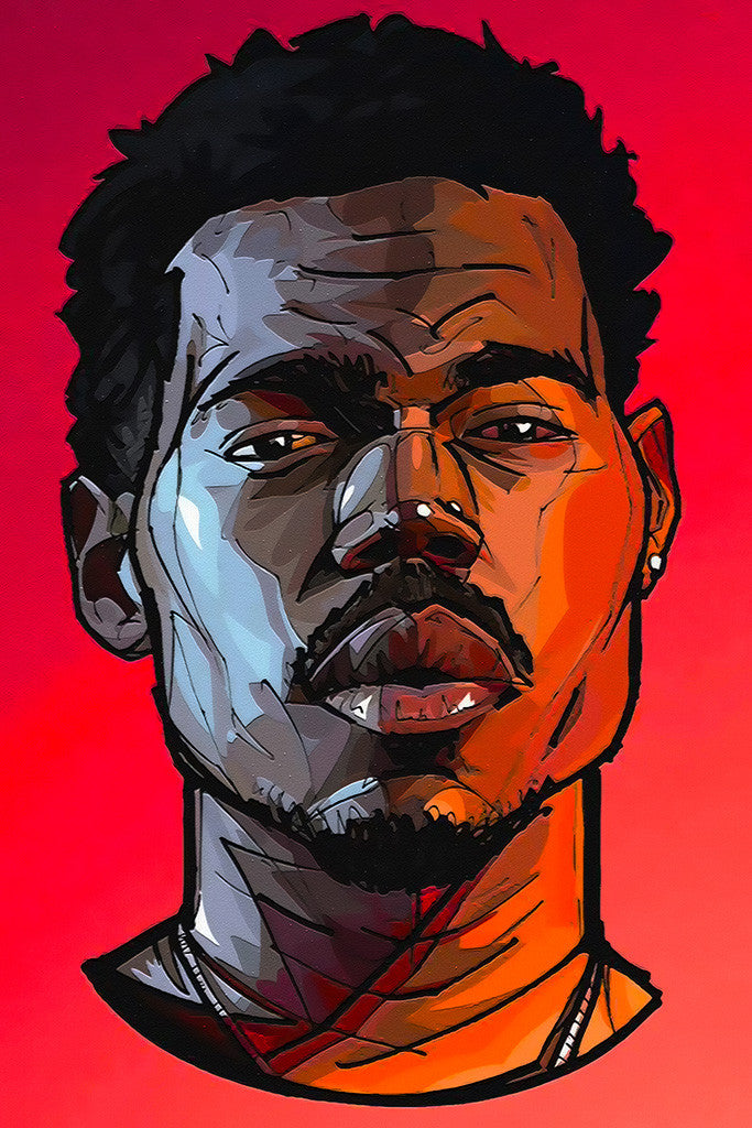 Chance The Rapper Portrait Rap Hip Hop Poster