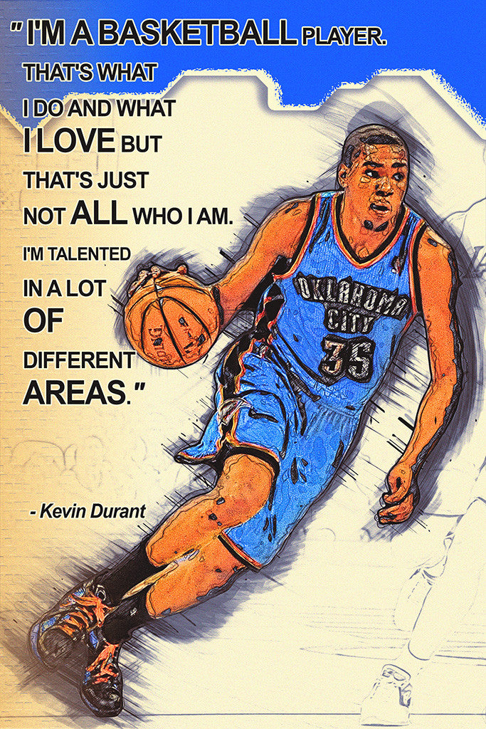 Choose a Size 2 KEVIN DURANT Photo Quality Poster