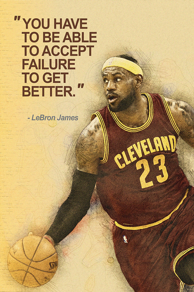 LeBron James Quotes NBA Basketball Sayings Poster