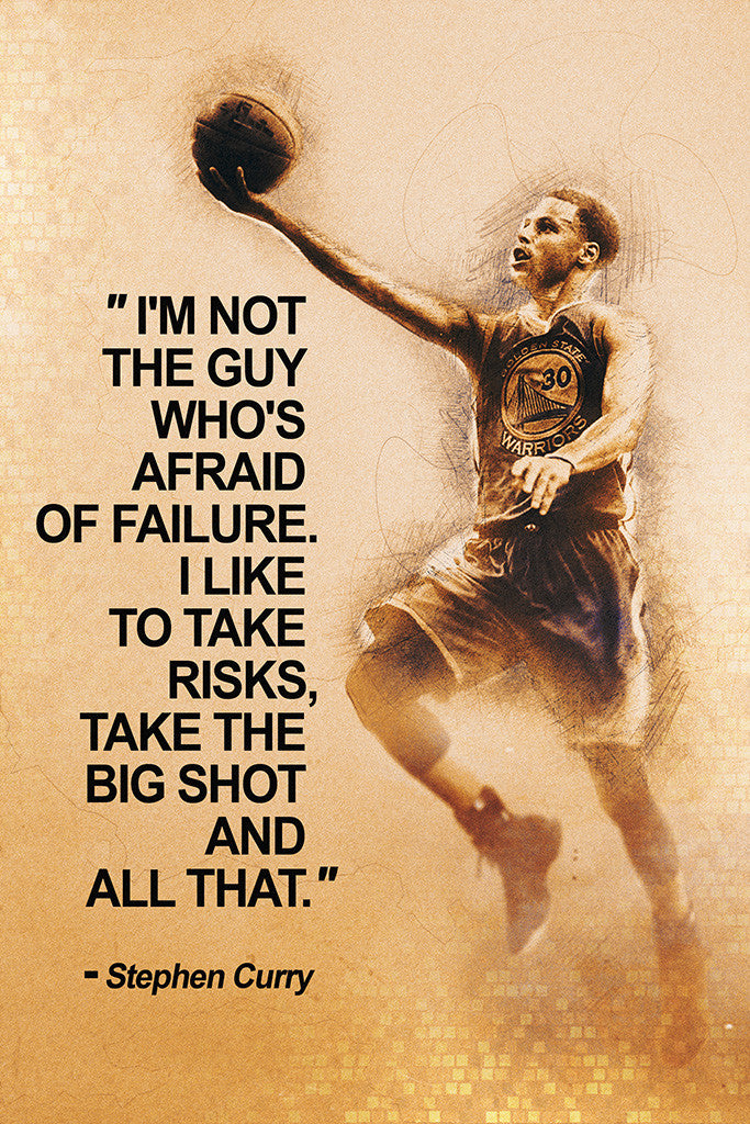 Stephen Curry Quotes NBA Basketball Sayings Poster