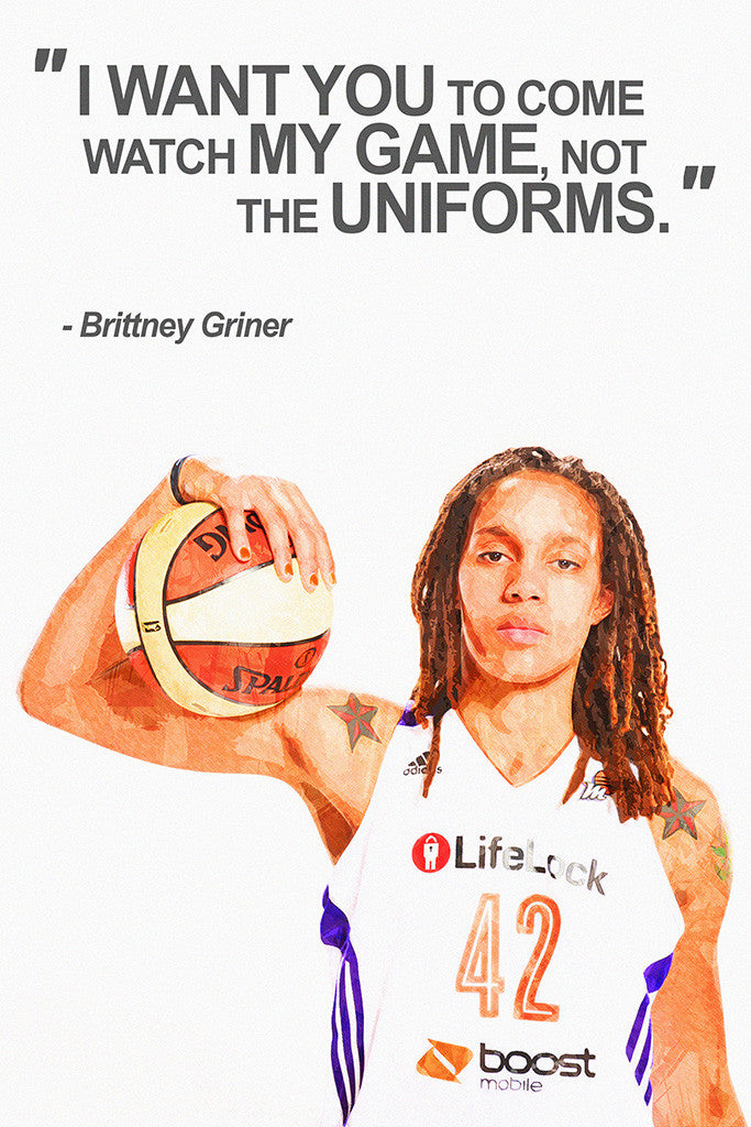 Brittney Griner Motivational NBA Basketball Quotes for Girls Poster