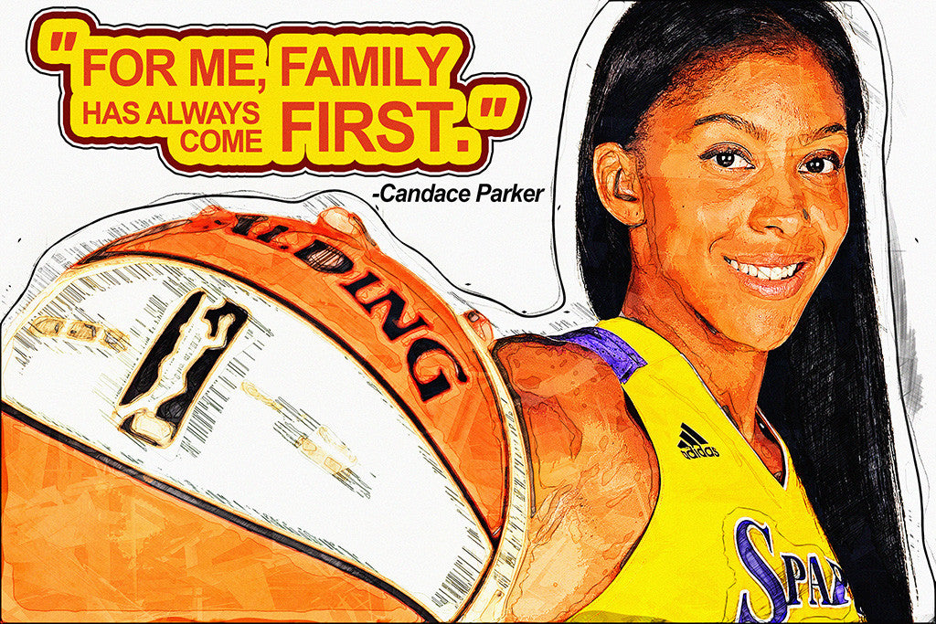 Candace Parker Motivational NBA Basketball Quotes for Girls Poster