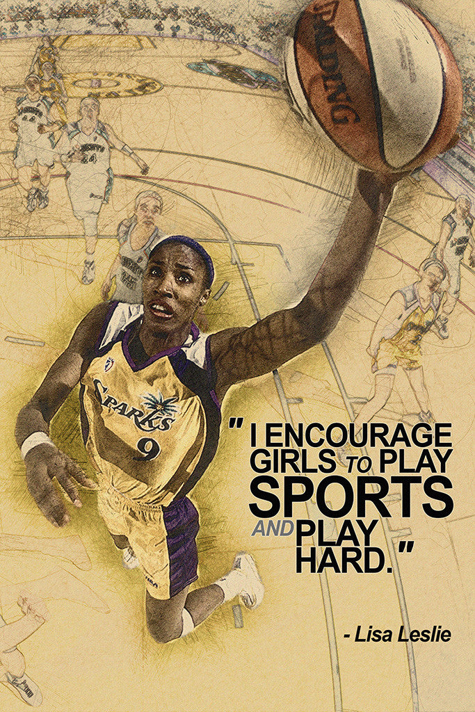 Lisa Leslie Motivational NBA Basketball Quotes Sayings Poster