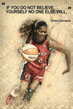 Sheryl Swoopes Female Motivational NBA Basketball Quotes Poster