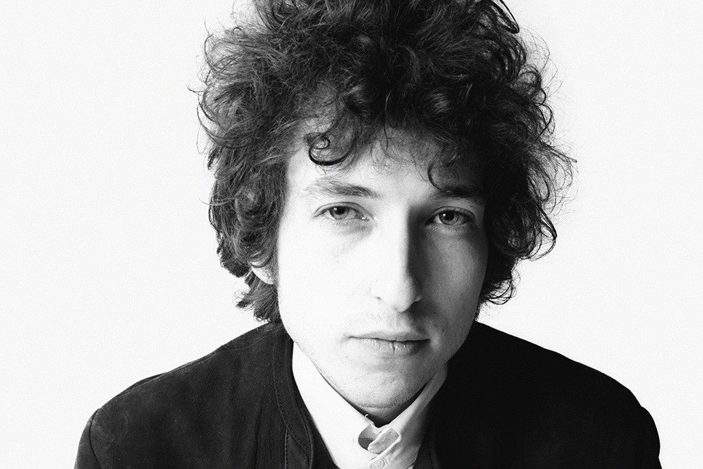 Bob Dylan Face Black and White Poster