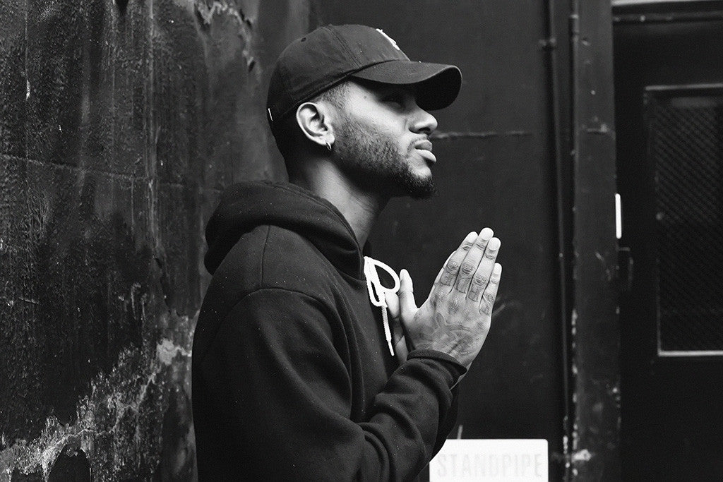 Bryson Tiller Rapper Black and White Poster
