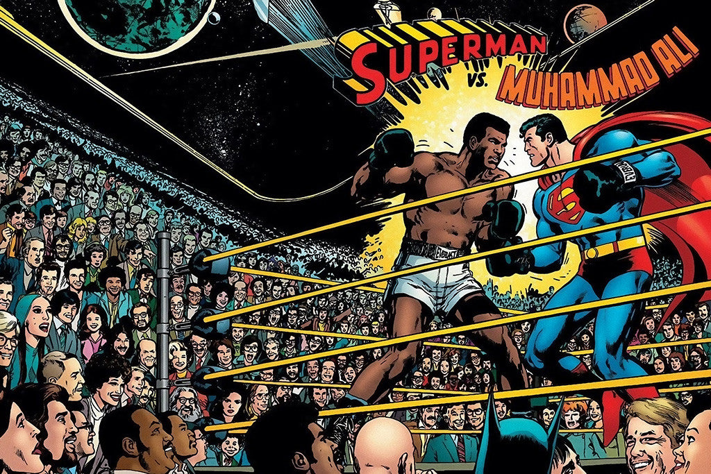 Superman vs. Muhammad Ali Fight Poster