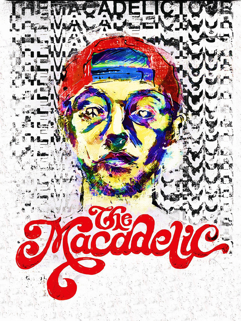 Rapper Mac Miller Promotional Music Poster