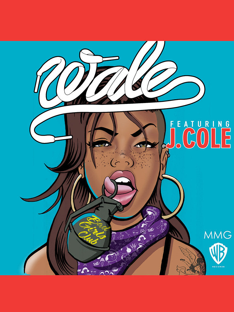 Rapper Wale Featuring J. Cole Blue Red Music Poster