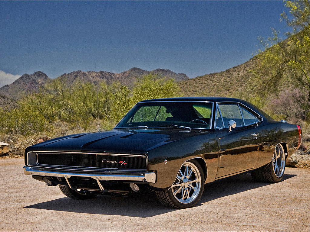 Dodge Charger R/T RT Auto Vintage Retro Muscle Car Poster