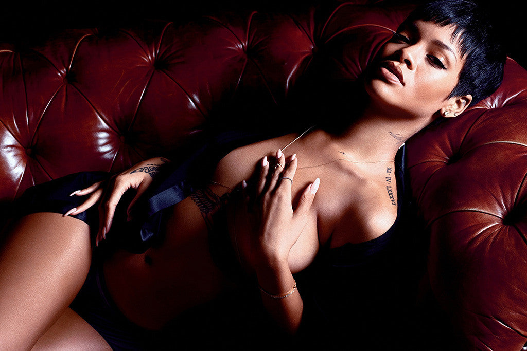 Rihanna Tattoo Sexy Hot Girl Music Poster