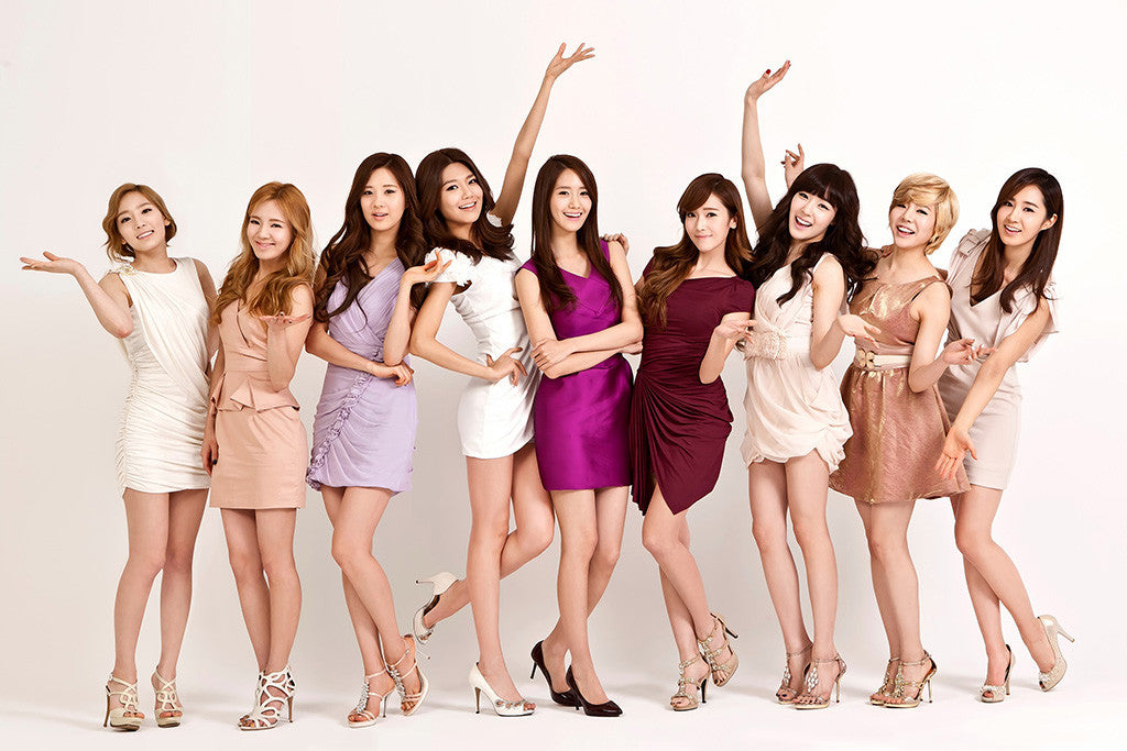 SNSD Asian Hot Sexy Girls Blondes Brunettes Poster