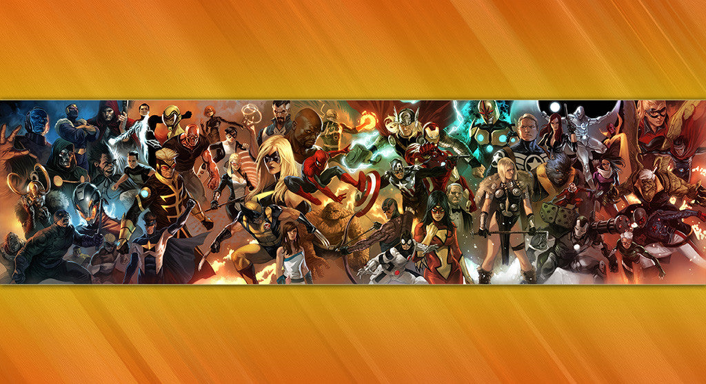 Spider-Man Iron Man X-Men Fantastic Four Comics Poster