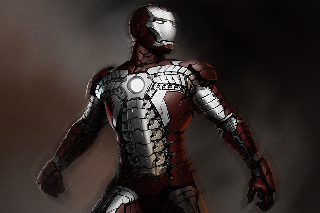 Iron Man Concept Comics Poster