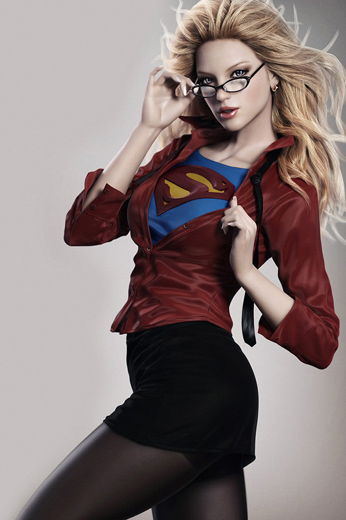 Supergirl Hot Girl Superman Comics Poster