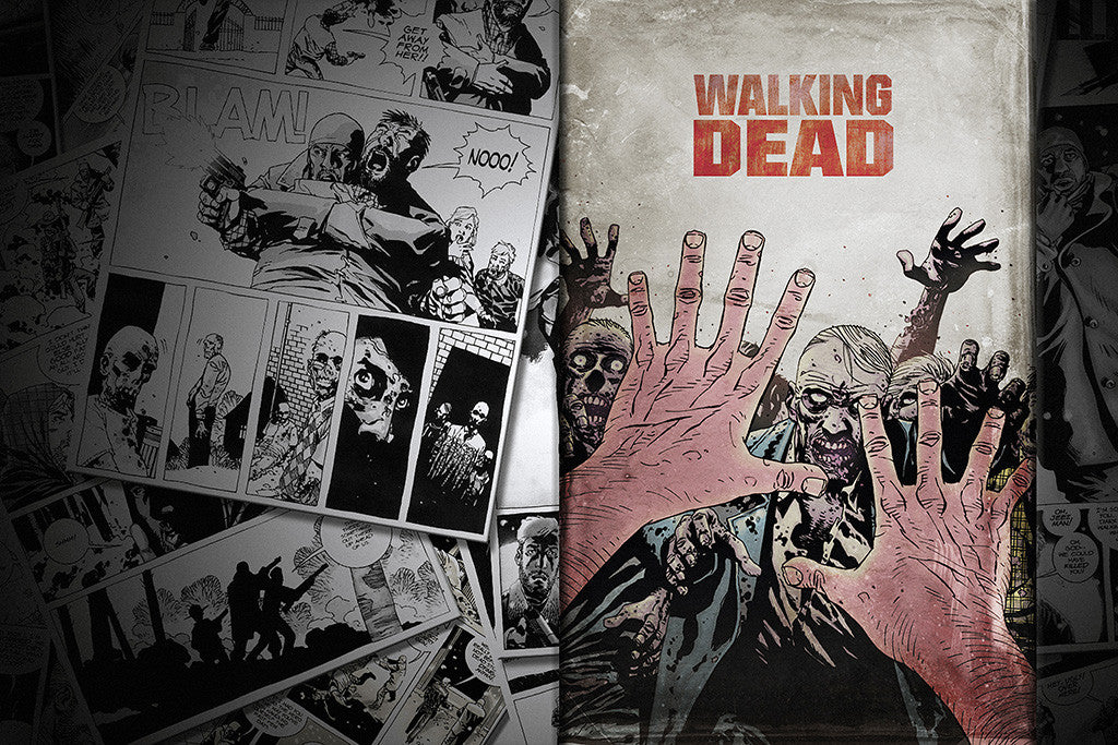 The Walking Dead Zombies Comics Poster