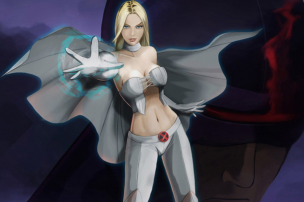 Emma Frost Hot Girl X-Men Comics Poster