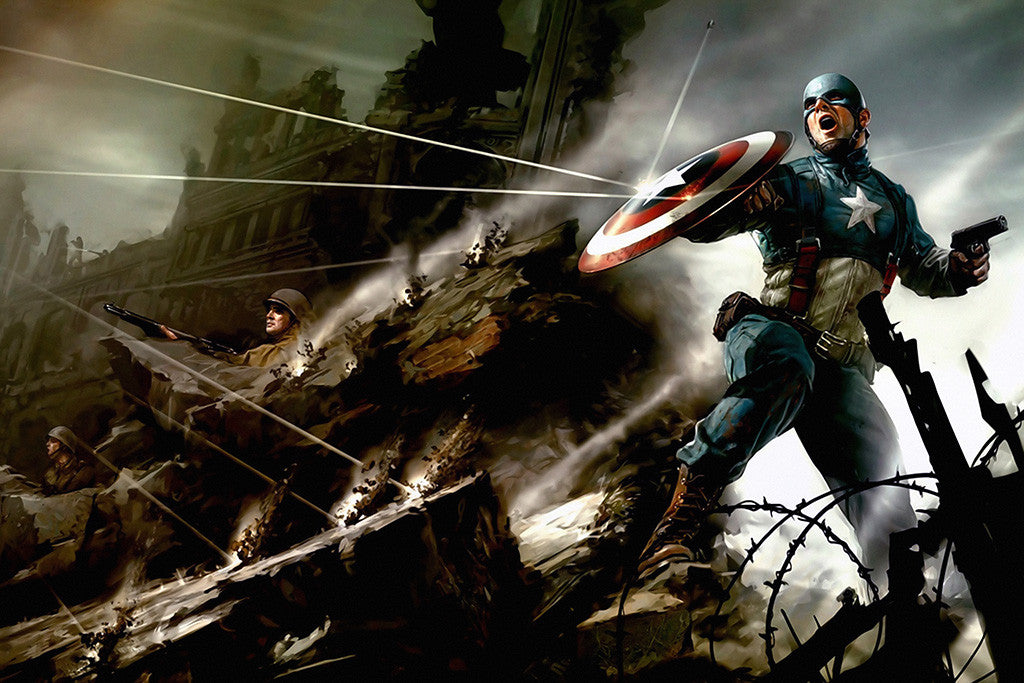 Captain America Soldiers Comics Poster
