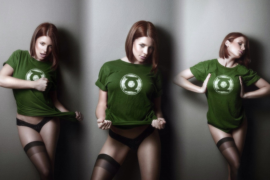 Hot Girl Green Lantern Superhero Comics Poster