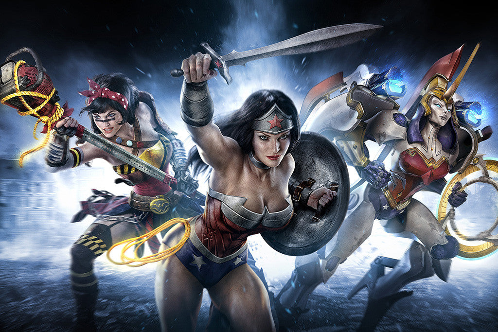 Infinite Crisis Wonder Woman Superheros Comics Poster