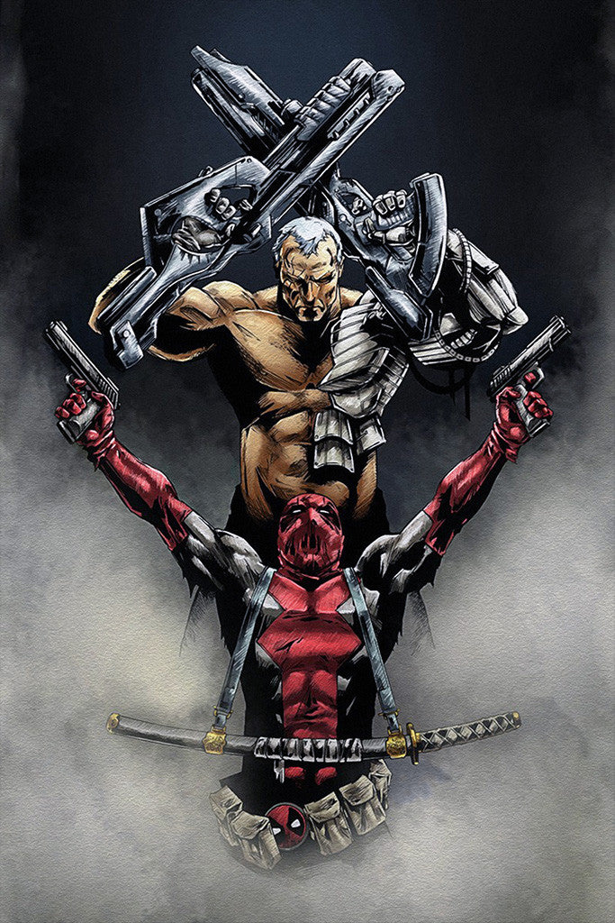 Deadpool Cable Comics Poster