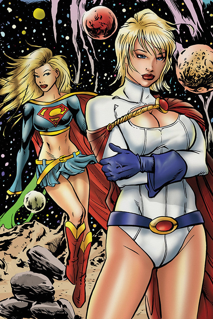 Supergirl Hot Women Girls Comics Superheroes Poster