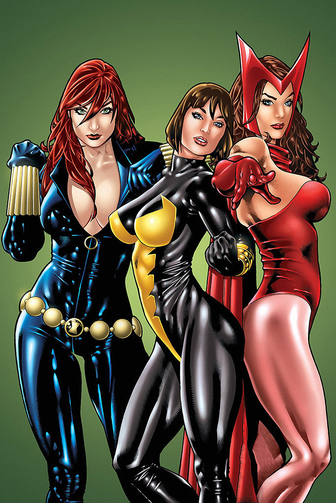 Hot Girls Women Comics Superhero Poster