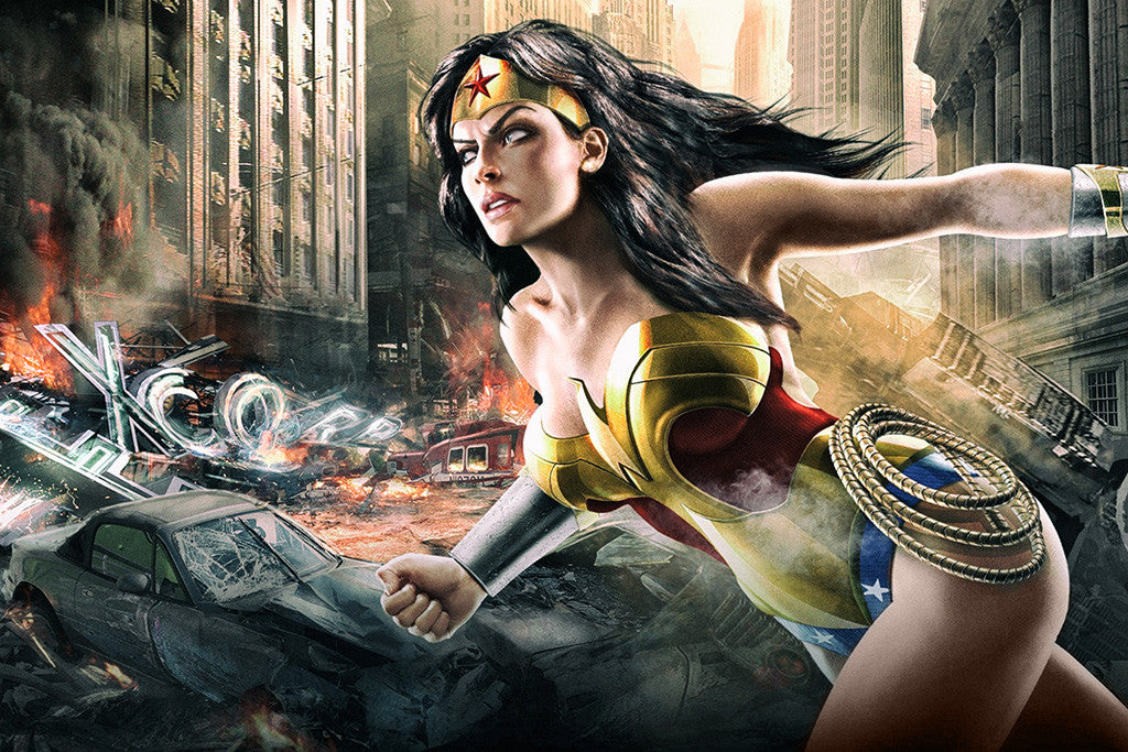 Wonder Woman Hot Comics Girl Poster