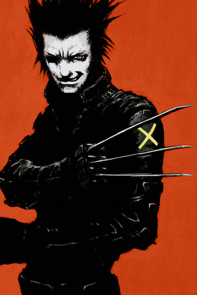 X-Men Wolverine Black Red Comics Poster