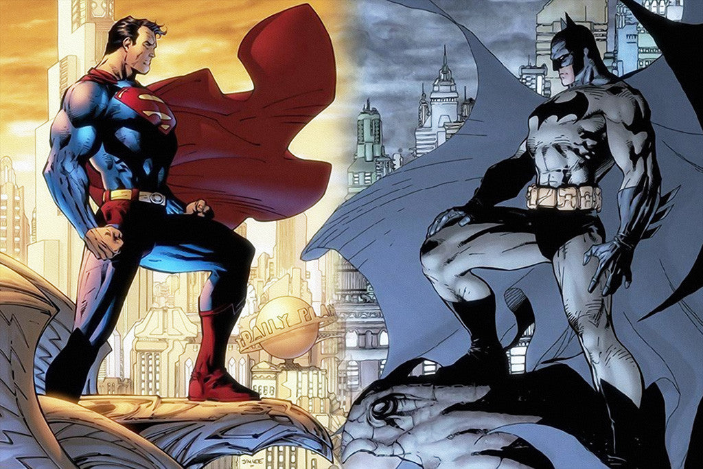 Batman Superman Comics Poster