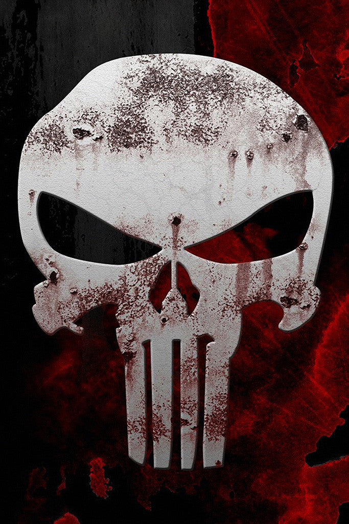 The Punisher Skull Comics Poster
