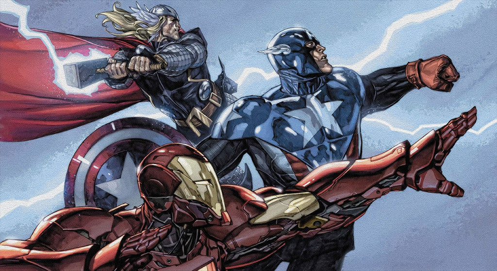 Thor Captain America Iron Man Comics Poster