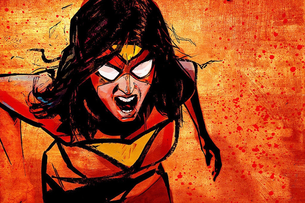 Spider-Woman Spider-Man Comics Poster