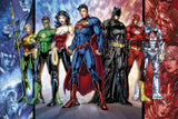 Justice League Superman Batman Green Lantern Comics Poster