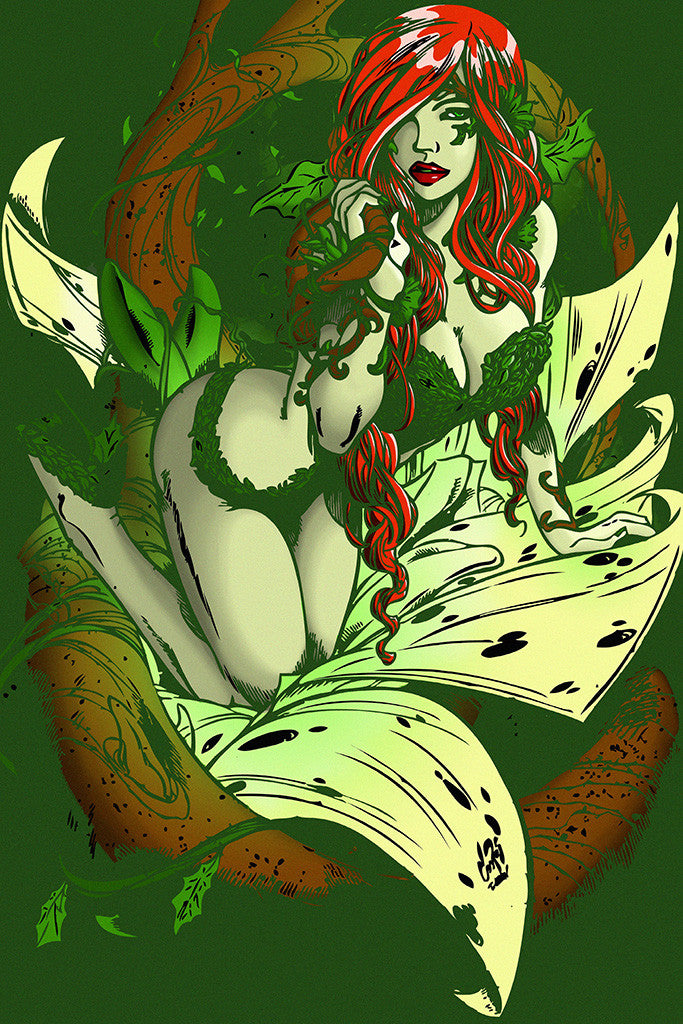 Dr. Pamela Lillian Isley Poison Ivy Hot Girl Comics Poster