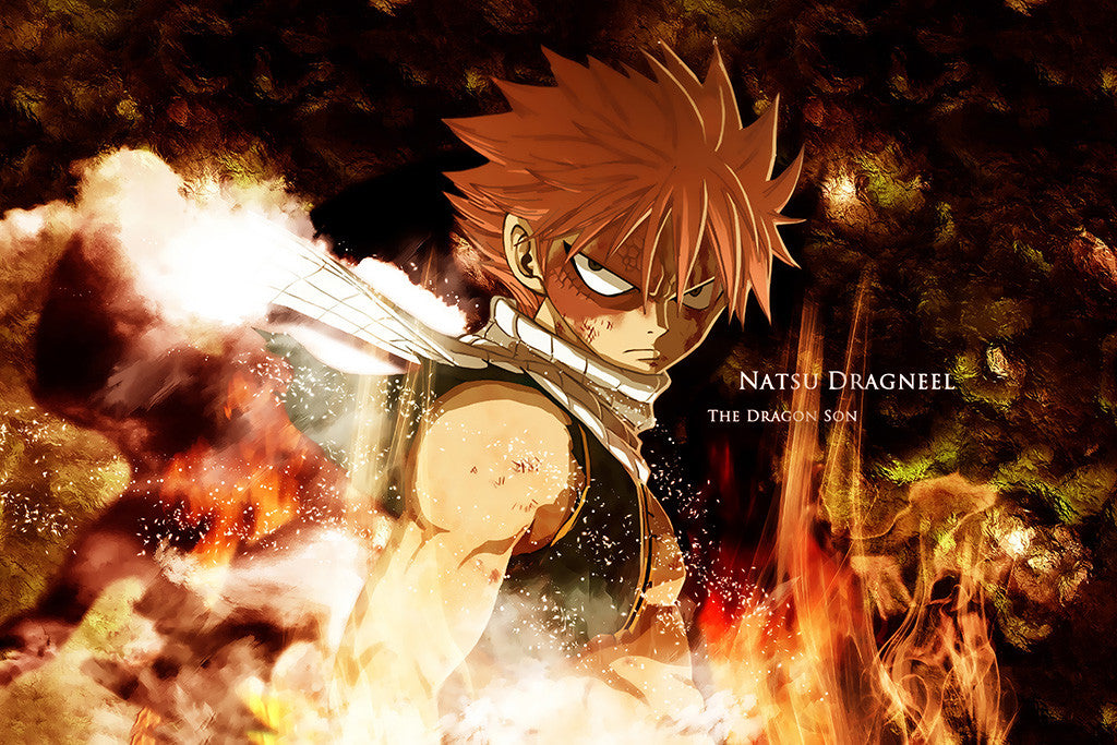 Fairy Tail Natz Dragon Anime Poster
