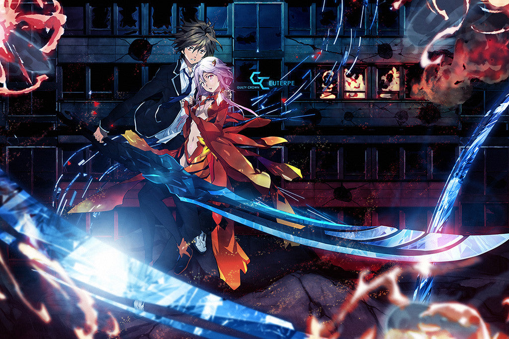 Guilty Crown Inori Yuzuriha Shu Ouma Anime Poster