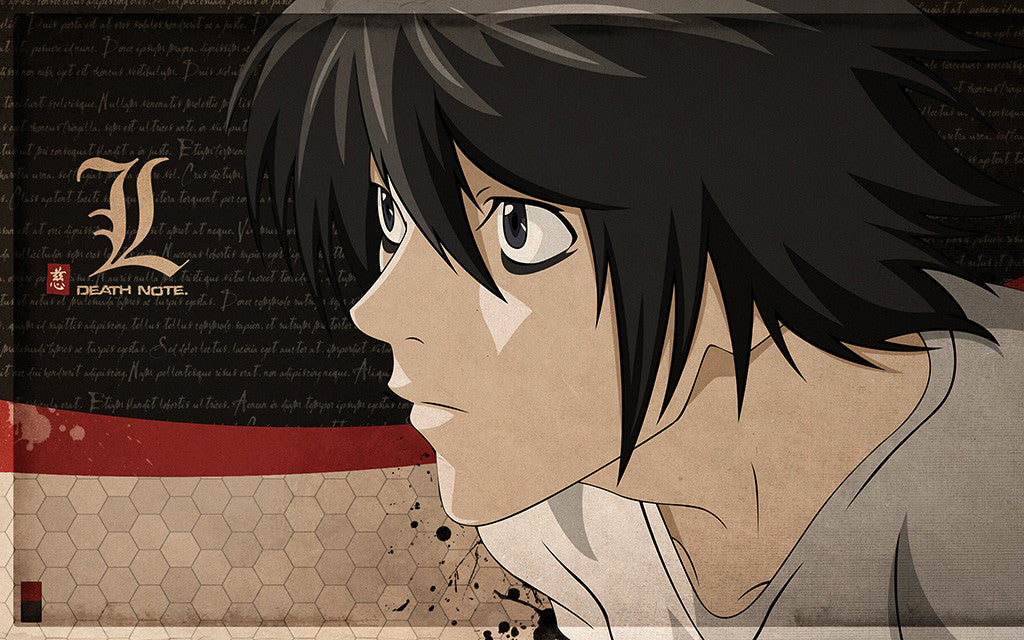 Death Note L Light Anime Poster
