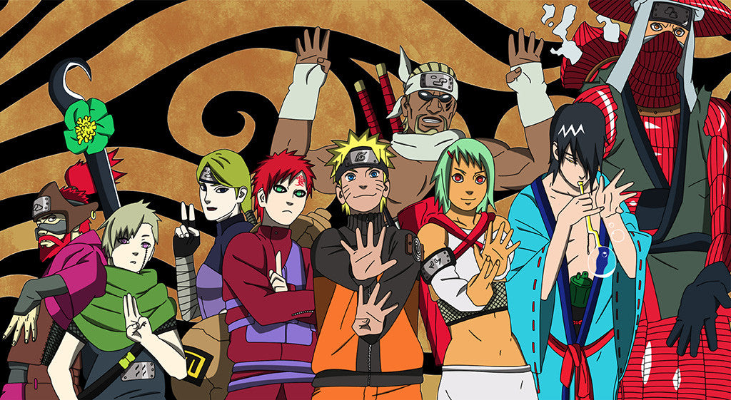 Naruto Shippuden Characters Anime Poster