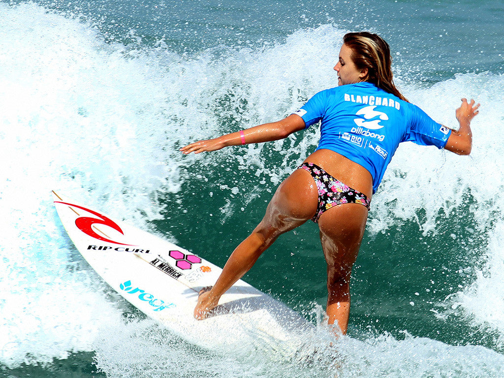 Hot Girl Surfing Poster