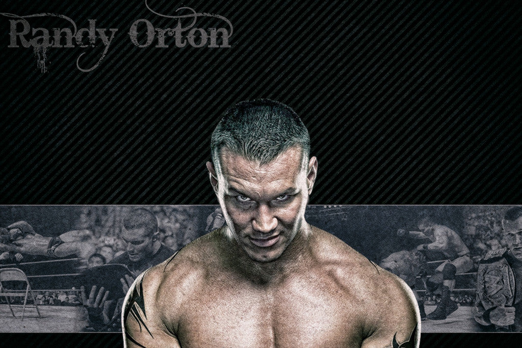 Randy Orton Wrestler Fighter WWE Poster