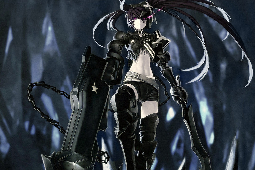 Black Rock Shooter Hot Girl Anime Poster
