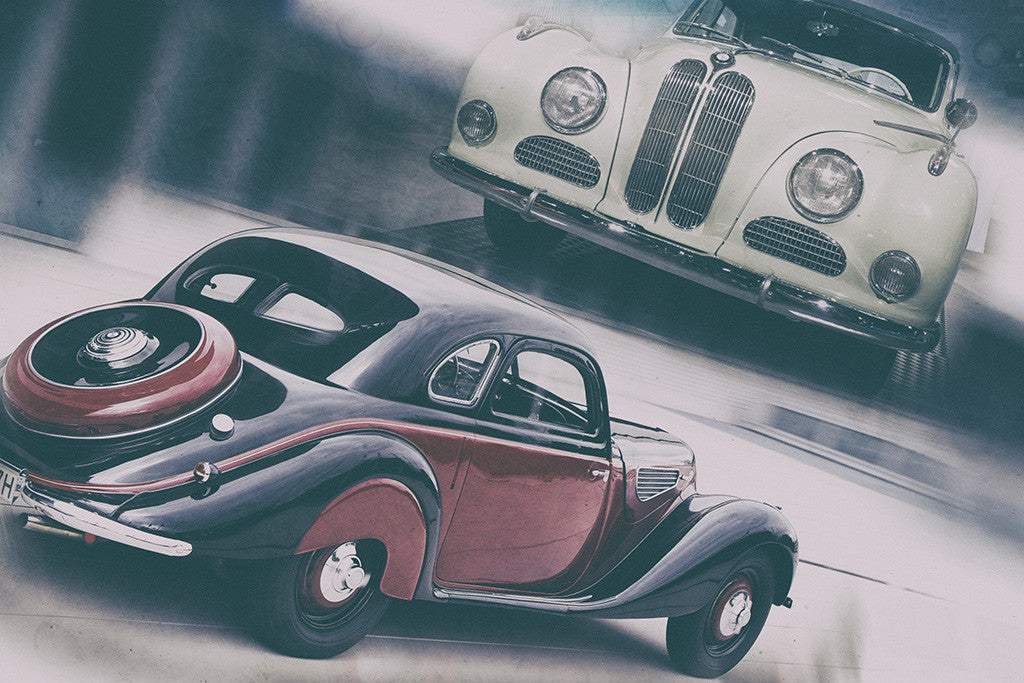 BMW Old Retro Cars Poster