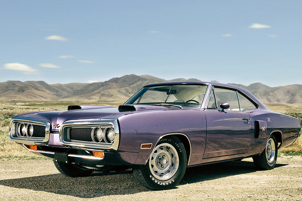 Dodge Coronet R-T 1970 Old Retro Muscle Car Poster